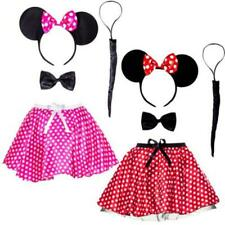 Fancy dress minnie mouse adults headband ears tutu skirt & tail costume womens