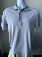 Travis Mathew Men's Shirt Polo Solid Light Gray Size Medium (M)
