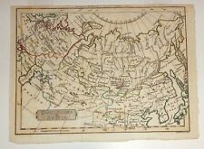 small old hand colored engraved map Russia 1795