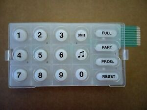 TEXECOM VERITAS 8/8Compact/R8/R8+/LED KEYPAD Replacement BUTTONS & MEMBRANE KIT
