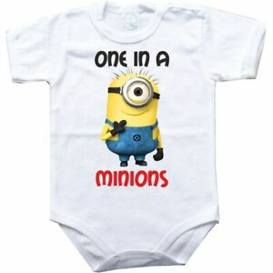 Baby bodysuit 1 in a minions 7, girl, boy, funny gift, One Piece infant jersey
