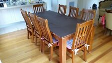 All timber 9 piece dining set with large table and 8 chairs - 2100 x 1050 x 770
