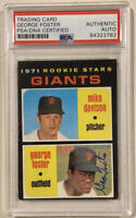 1971 Topps GEORGE FOSTER Signed Rookie Baseball Card PSA/DNA #276 SF Giants