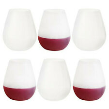 Unbreakable Silicone Wine Glasses Stemless Shatterproof  (Set of 6)