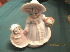 Rare Kitty Cucumber Schmidt 1990 ceramic music box, Grandmother and child