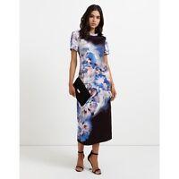 Julien Macdonald Star Abstract Floral Jersey Tshirt Dress Size UK 10 DH078 LL 04