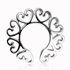 Sexy Surgical Steel Non Piercing Clip On Heart Design Nipple Ring Shield TO