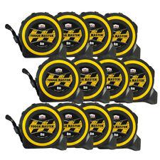 Toughmaster Pocket Tape Measures Metric/Imperial 8M/26ft Anti-Impact Pack of 12