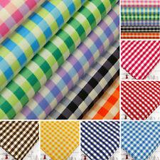 Cotton Poplin Fabric per FQ Retro Gingham Plaid Check Dress Quilt Patchwork VA7