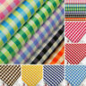 Cotton Poplin Fabric per FQ Retro Gingham Plaid Check Dress Quilt Patchwork VA7