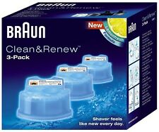 Braun CCR3 Clean and Renew Mens Shaver Hygienic Cleaning Refill Cartridge 3 Pack
