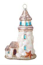"Raz Glass 6"" Nautical Coastal Lighthouse Christmas Ornament"