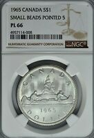 1965 CANADA GOOSE $1 ONE DOLLAR NGC PL66 PROOF LIKE COIN IN HIGH GRADE