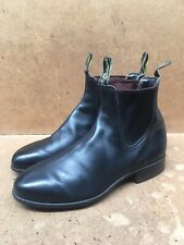 RM Williams Black Women's Australian Chelsea Pull Up Leather Boots Size 7.5 G