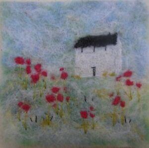 Needle Felted Landscape Picture  Original Artist Handmade FREE POST Arts