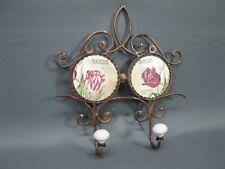 BARRE avec crochets vestiaire métal 28 cm de Garderobe couloir Roses Motif