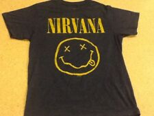 NIRVANA Smiley Face Tee Shirt - Medium Blue T-Shirt - 2015 Printing