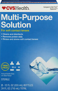 CVS Health Multi-Purpose Solution Twin Pack for soft contact lenses (2-12 fl oz)