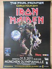 IRON MAIDEN 2011 MÜNCHEN ++  orig. Concert Poster - Konzert Plakat  A1  NEU