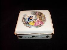 Lord Nelson Pottery Trinket Box with 19th Century Romantic Scene