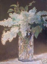 Édouard MANET (1832-1883) Oeuvre sur toile Bouquet de fleurs Editions Braun