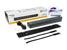 NETGEAR ProSAFE 16 Port Gigabit Web Managed Click Switch GSS116E-100NAS ~  NEW