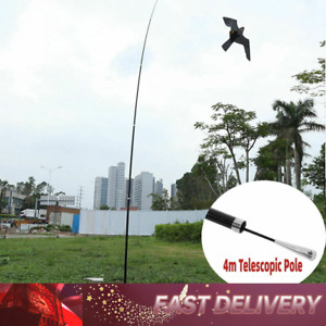 Flying Hawk Kite Garden Bird Repeller Scarer Extendable With 4m Telescopic Pole