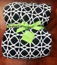 New ListingVera Bradley Throw Blanket Night And Day Geo Classic Black & White New Rare Nwt