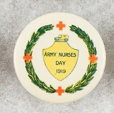 World War One Australia Army Nurses Day 1919 Pinback Button Badge - very rare