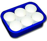 Childrens Art Craft Paint & Water Pots - Set 6 Paint Pots in Coloured Tray