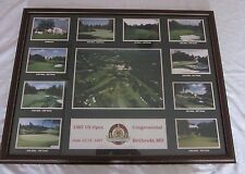 1997 US Open Congressional Golf Course Bethesda, Maryland Framed Picture
