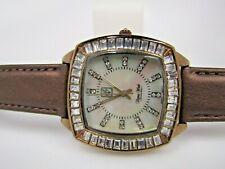 Victoria Wieck Brown Leather Band Watch