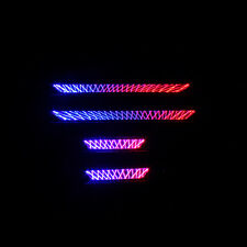 For Toyota RAV4 2014-18 Red-Blue Illuminated LED Door Sill Step Scuff Plate