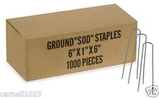 "1000 6"" Landscape Staples~SOD Staples Garden Stakes Weed Barrier Pins FREE SHIP"