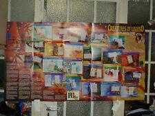 LOT 1  BROOKE BOND WALL CHART/WALLCHART  CREATURES OF LEGEND