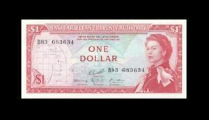 1965 BRITISH EAST CARIBBEAN STATES QEII $1 (( GEM UNC ))