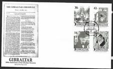 Gibraltar 2001 FDC 200th anniversary Gibraltar chronicle fine used stamps