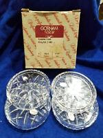 Vintage Gorham Crystal Coaster Set in King Edward Pattern - Set of 4 in Box