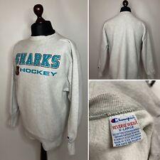 90's Vintage Sharks Hockey NHL Sweatshirt Champion size XL