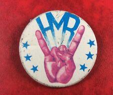 Pin Button Badge Soviet Underground USSR FORBIDEN HEAVY METAL ROCK 80's.SCARCE