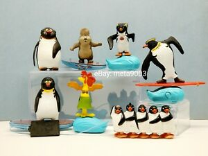 McDonalds Surf's Up Penguins Beaver Chiken figures & Happy Feet toys Lot of 7