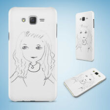 SAMSUNG GALXY J SERIES PHONE CASE BACK COVER|GIRL SKETCH