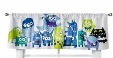 One Circo Monster Window Valance 54 x 15 Blue Green New Curtain