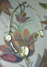 Fabulous Signed Ikita Floral French Designer Necklace