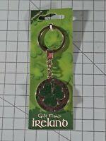 Irish Spinning Shamrock Key Chain From Ireland B16