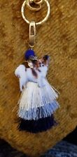 Papillon Dog Ladies Handmade Tassel jeweled Necklace Free shipping Only 1