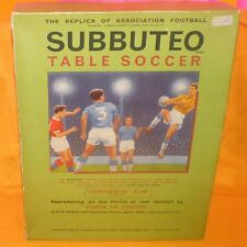 VINTAGE SUBBUTEO THE FOOTBALL GAME 'CONTINENTAL' CLUB EDITION TABLE SOCCER BOXED