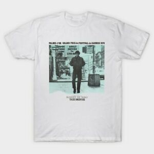Taxi Driver Cannes 1976 Travis Bickle Movie Film Poster Promo White T Shirt