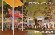 1967 Centennial Exposition Fairbanks Alaska Purchase Bartlett Plaza Postcard