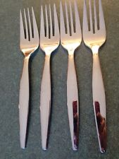 4 Oneida Stainless Steel 18-10 Flatware Salad Forks OHS431 OHS  431